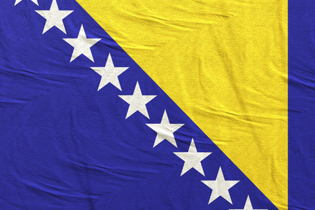 3d rendering of a Bosnia and Herzegovina flag