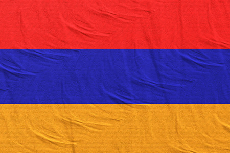 3d rendering of Republic of Armenia flag