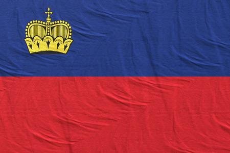 3d rendering of Liechtenstein flag Stock Photo