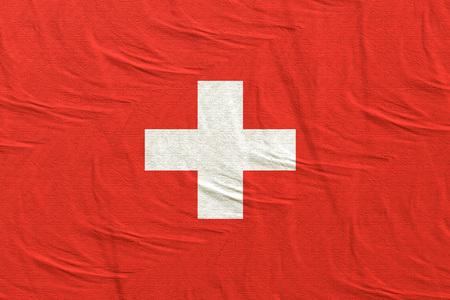 3d rendering of Switzerland flag Stock Photo