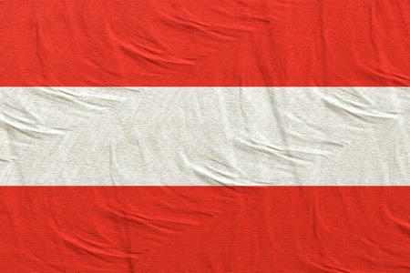 3d rendering of an Austria flag Standard-Bild - 121006632