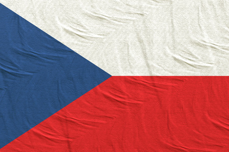 3d rendering of Czech Republic flag
