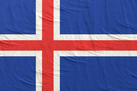 3d rendering of an Iceland flag
