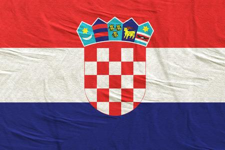 3d rendering of a Republic of Croatia flag
