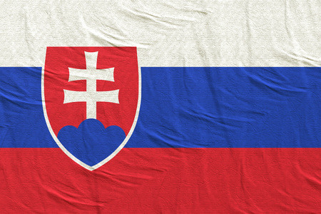 3d rendering of a Slovakia flag