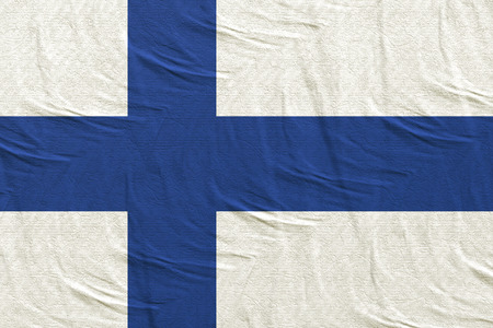 3d rendering of a Republic of Finland flag