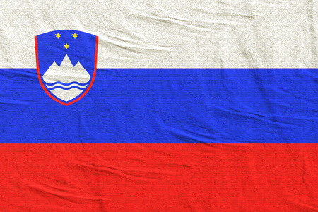 3d rendering of a Slovenia flag