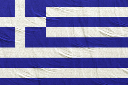 3d rendering of a Greece flag