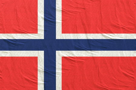 3d rendering of a Kingdom of Norway flag Stock Photo
