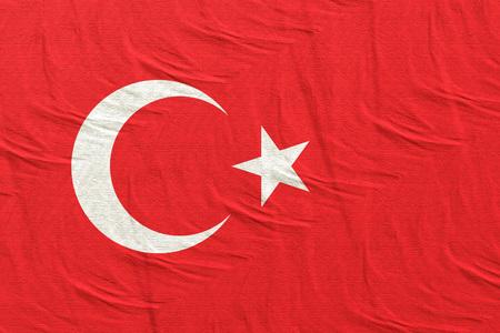 3d rendering of Turkey flag Stock Photo