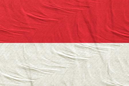 3d rendering of Principality of Monaco flag