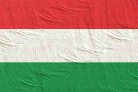 3d rendering of a Hungary flag