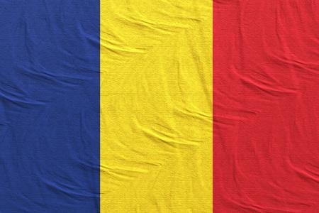 3d rendering of Romania flag