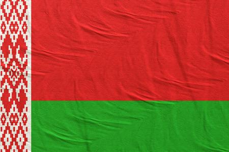 3d rendering of Belarus flag