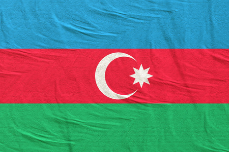 3d rendering of an Azerbaijan flag