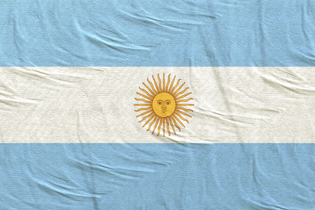 3d rendering of Argentine Republic flag