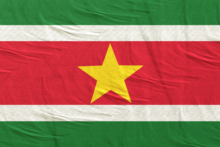 3d rendering of Republic of Suriname flag Stock Photo