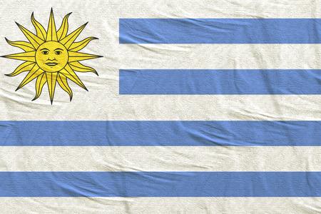 3d rendering of Oriental Republic of Uruguay flag Stock Photo