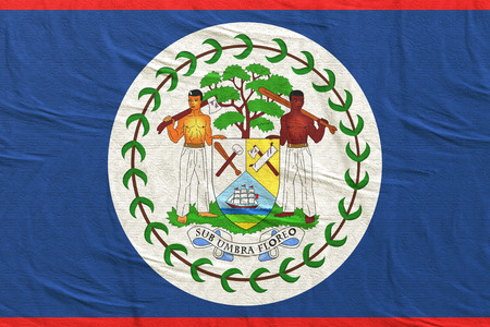 3d rendering of Belize flag waving