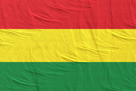 3d rendering of Bolivia flag waving