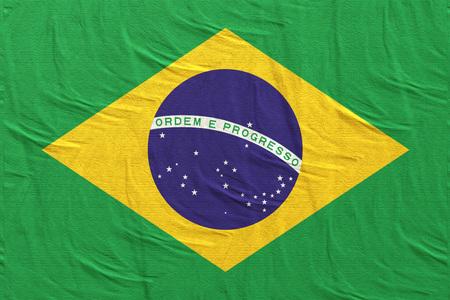 3d rendering of Brazil flag waving