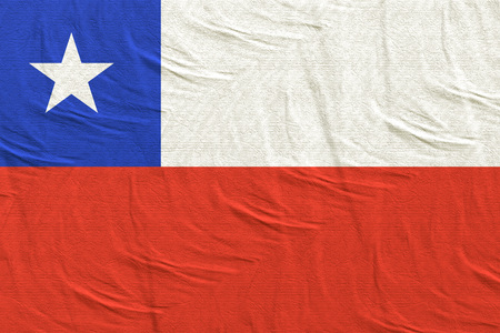 3d rendering of Chile flag waving Banque d'images