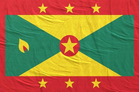 3d rendering of Grenada flag waving
