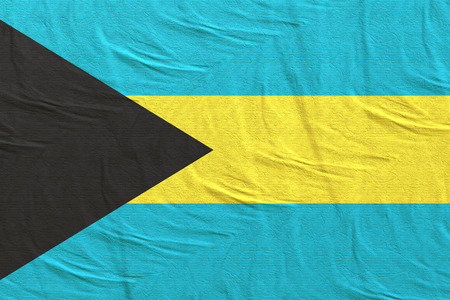 3d rendering of Bahamas flag waving