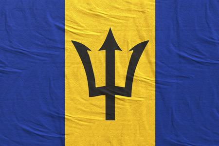 3d rendering of Barbados flag waving