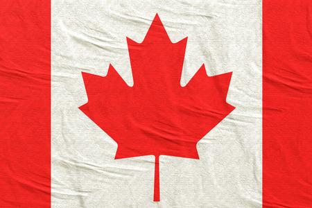 3d rendering of Canada flag waving