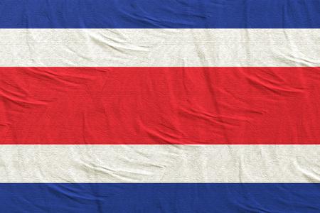 3d rendering of Republic of Costa Rica flag Stock Photo
