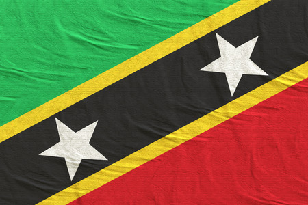 3d rendering of Federation of Saint Christopher and Nevis flag