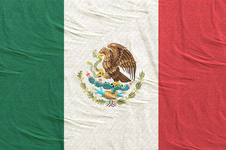 3d rendering of United Mexican States flag