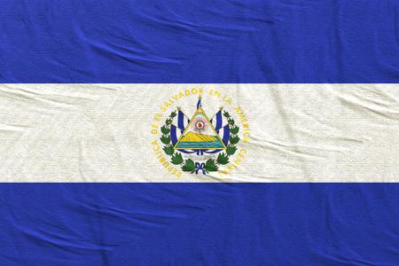 3d rendering of Republic of El Salvador flag Stock Photo