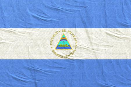 3d rendering of Republic of Nicaragua flag Stock Photo