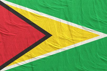 3d rendering of Republic of Guyana flag