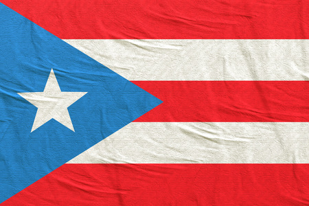 3d rendering of Commonwealth of Puerto Rico flag