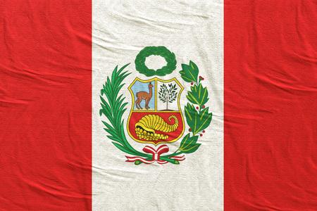 3d rendering of Republic of Peru flag