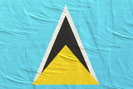 3d rendering of Saint Lucia flag