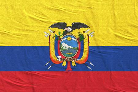3d rendering of Republic of Ecuador flag Stock Photo