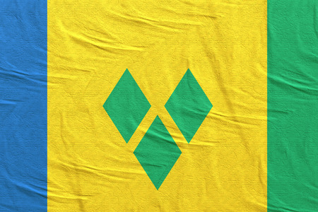 3d rendering of Saint Vincent and the Grenadines flag