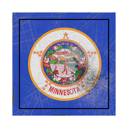 3d rendering of a Minnesota State flag waving