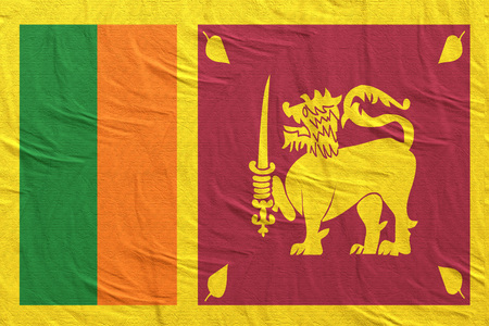 3d rendering of a Sri Lanka flag silk