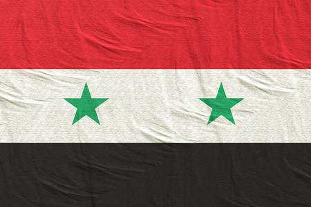 3d rendering of a Syria flag silk