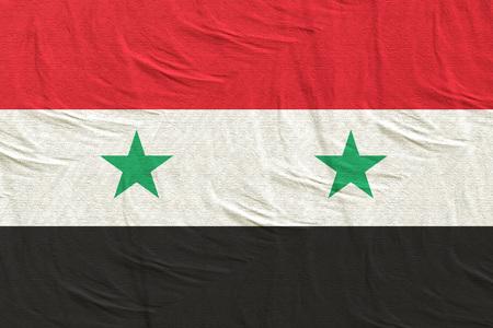 3d rendering of a Syria flag silk Reklamní fotografie - 122302311