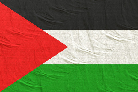 3d rendering of a Palestine flag silk