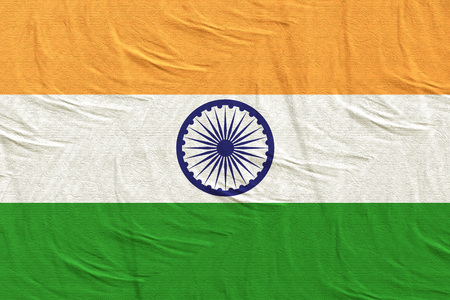 3d rendering of an India flag silk