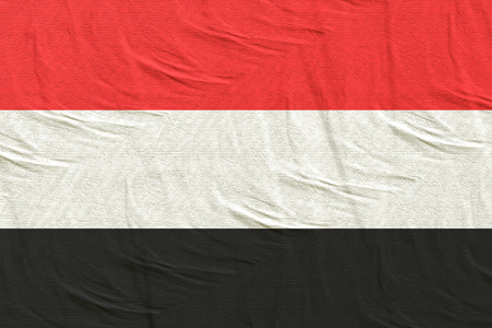 3d rendering of a Yemen flag silk