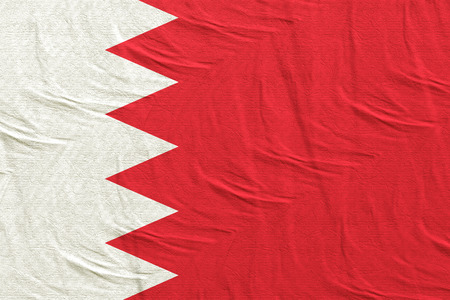 3d rendering of a Bahrain flag silk Stock Photo