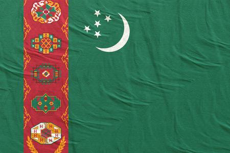 3d rendering of a Turkmenistan flag silk